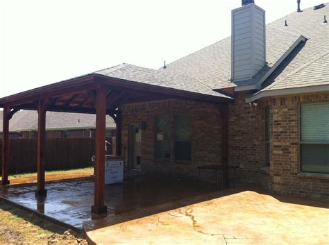 Large Patio Cover by Large Roofed Patio Cover In Wylie Hundt Patio