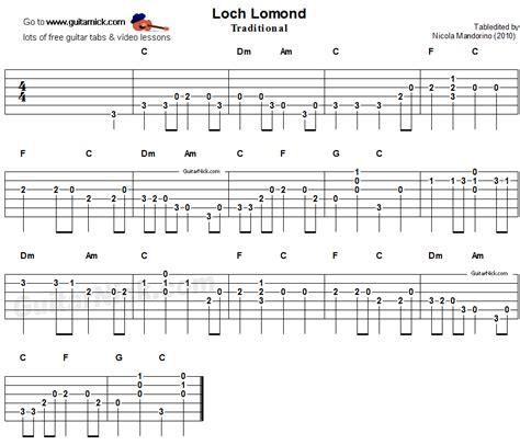 song guitar loch lomond easy guitar lesson guitarnick