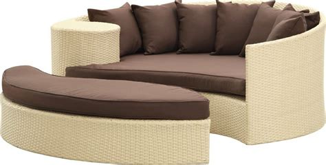 outdoor daybed with ottoman lexmod taiji round wicker outdoor daybed with ottoman