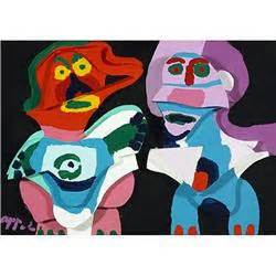 Apel Cople karel appel in wood usa 1976 paint