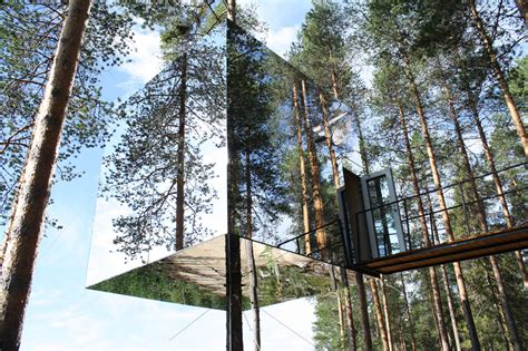 mirrored house mirrorcube treehotel architectuul