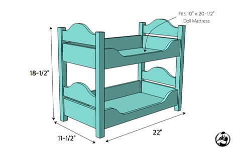 3 Bed Bunk Beds Plans 18in Doll Bunk Beds 187 Rogue Engineer