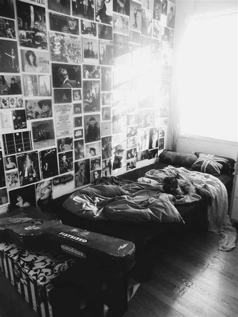 music bedroom tumblr black and white grunge bedroom decoration