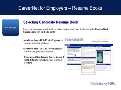 Resume Book by Careernet For Employers Resume Books