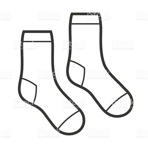 socks vector pair of white socks icon vector stock vector more images of abstract 619770336 istock