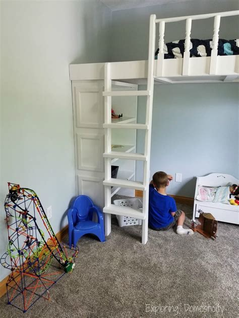 bunk bed with play area underneath play room loft bed with organization exploring domesticity