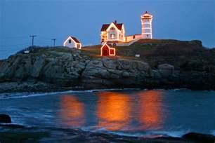 nubble lighthouse lights new lighthouses lighting of the nubble today