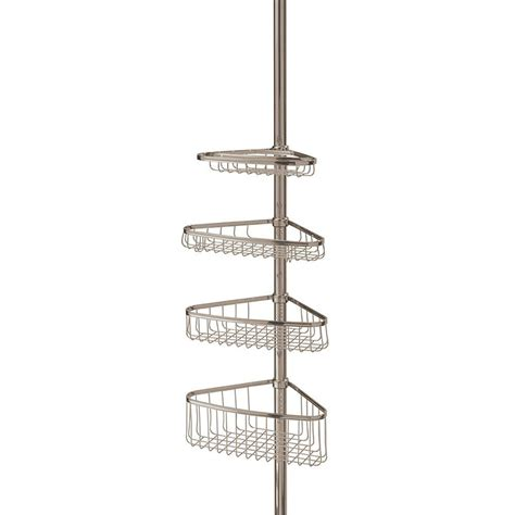 interdesign morley 4 shelf tension pole shower caddy 01853