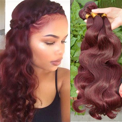hair color weave dallas grade 7a burgundy hair extensions body wave 3pcs lot