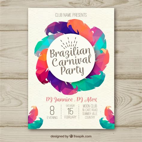 creative poster design vector creative colorful brazilian carnival poster design vector