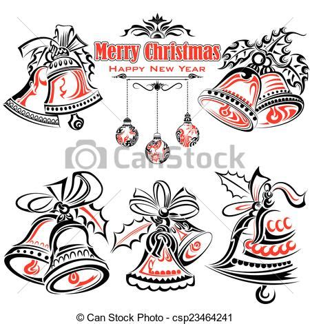 tattoo girl jingle bells eps vector of tattoo style of christmas jingle bells