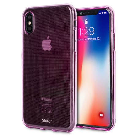 olixar flexishield iphone x gel case pink