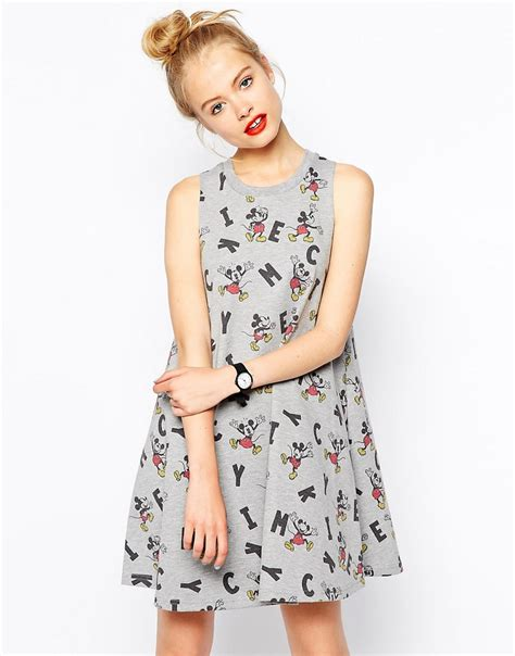 Dress Micky asos asos swing dress in mickey mouse print at asos