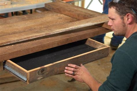 how to build a desk with drawers how to build a reclaimed wood office desk how tos diy