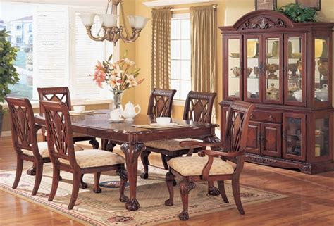 Preston Cherry Dining Room with China Cabinet   Von Furniture