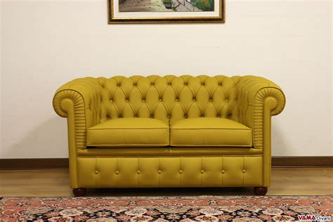 little yellow couch smaller chesterfield sofa chesterino