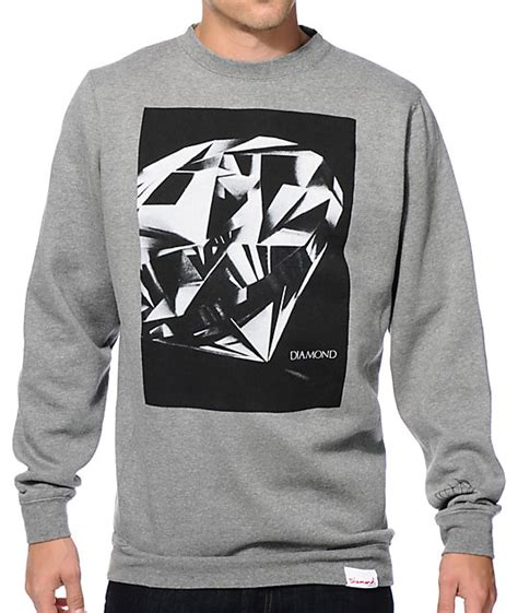 diamond supply co mill tee at pacsun com from pacsun tops zumiez diamond sweater sweater grey