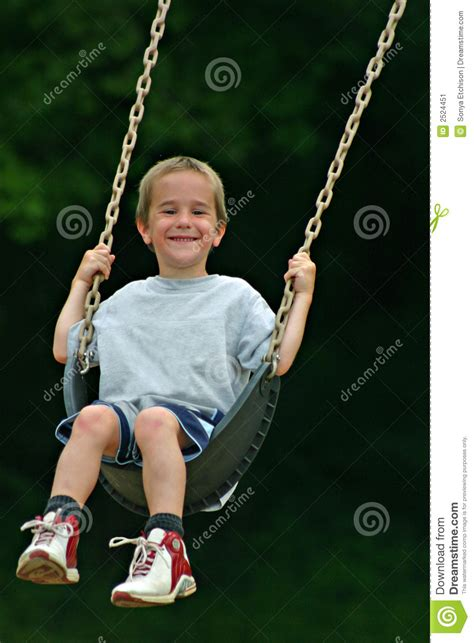 swinging with boy swinging stock image image 2524451