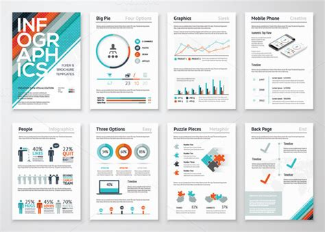 infographic brochure template infographic brochures 3 presentation templates on