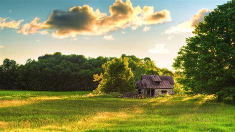 house beautiful natural scenery wallpaper