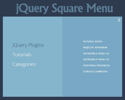 design menu using jquery jquery square menu uicorner user interface design