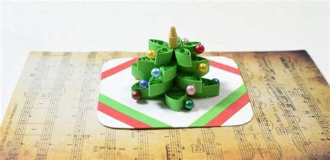How To Make A Gift Card Tree - how to make a 3d christmas tree quilling paper greeting card with beads pandahall com