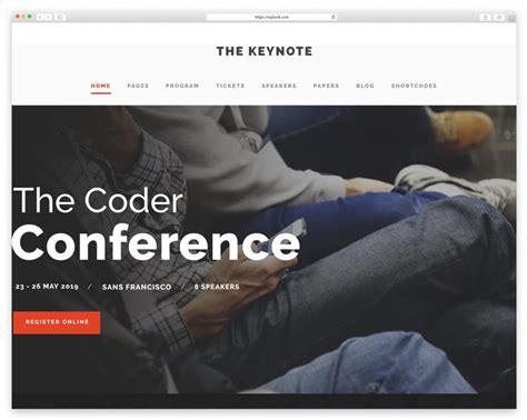 theme the keynote best wordpress themes for conference and event wplook studio