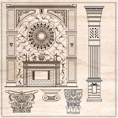 luxury design elements cad drawings download cad blocks