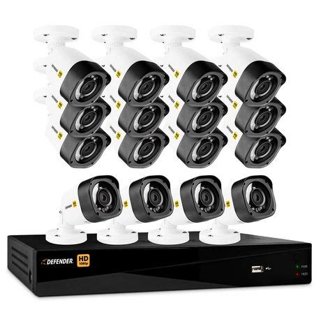 defender hd 1080p 16 channel 2tb dvr security system and