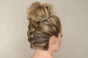 how to back your braids in doughnut bun by the sife french braid hairstyles for women hairstyle for women