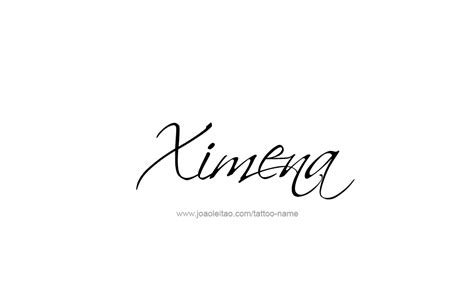 tattoo design name ximena 13 png