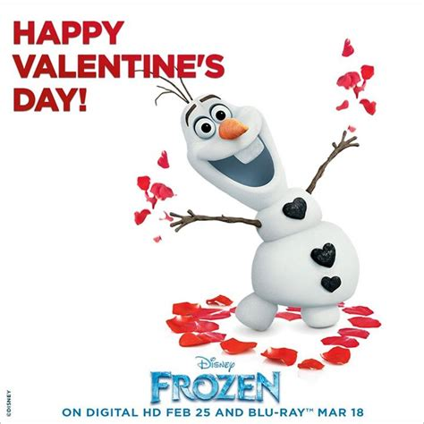 olaf printable valentines day cards happy valentine s day from olaf frozen photo 36648428