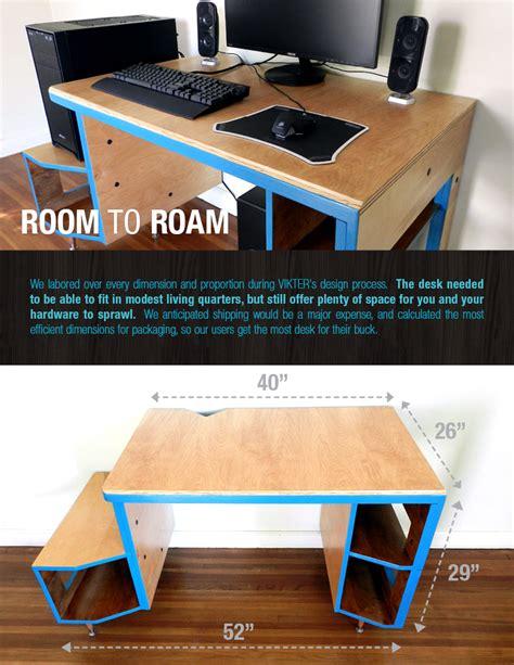 kickstarter gaming desk vikter gaming desk now on kickstarter by tom balko at