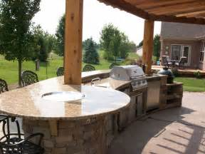 outdoor kitchen firepit bar top outdoor spaces