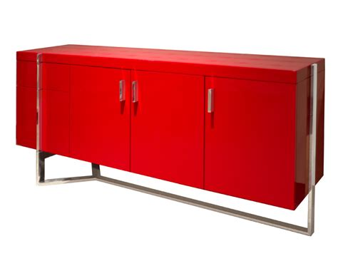 Corner Dining Table Corner martelli red lacquered credenza