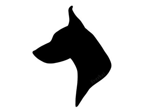 dog head silhouette clip art doberman head silhouette commission by everkai tattoo
