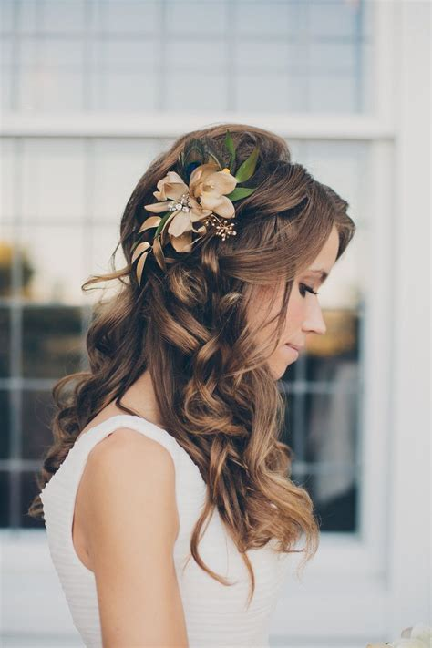 hairstyles down there beautiful wedding hairstyles with flowers fashion fuz