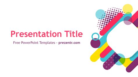 free colorful shapes powerpoint template prezentr