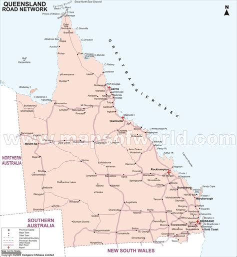 printable qld road map qld 2008