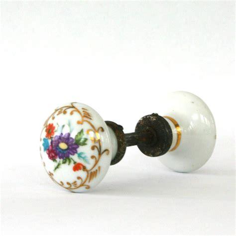 porcelain door knobs antique porcelain door knobs floral flowers cottage chic