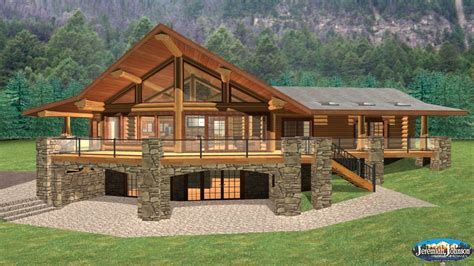 log home floor plans with garage and basement log cabin home plans with basement log cabin style house