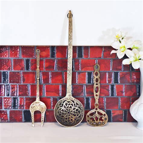 fork art spoon art kitchen decor kitchen utensil art large wall hanging kitchen utensils spoon fork wall decor