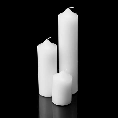 pillar wax white ivory unscented dome top candles wedding - Best Unscented Candles