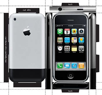 make your own (paper) iphone intomobile
