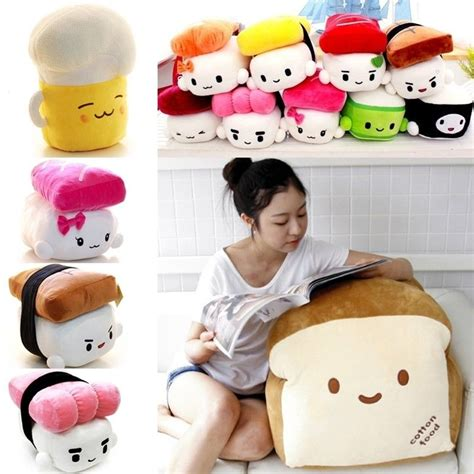 plush pillows japan sushi pillow various food cushion plush doll x