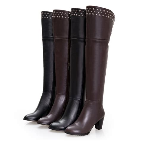 plus size the knee boots free shipping new arrival fashion sale knee high