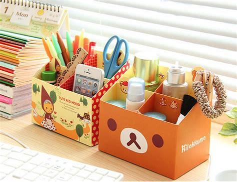 korean paper stationery diy storage pencil box desk
