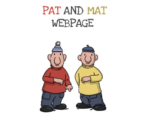 Pat And Mat by S 233 Rie 3 Ofici 225 Ln 237 Web Boba Studio S R O