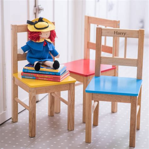 Childs Wooden Chair Personalised - personalised child s wooden chair by the letteroom