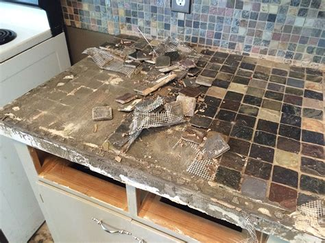 removing kitchen tile backsplash kitchen tile and countertop demolition ash smash